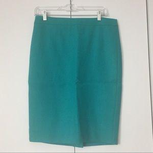 J Crew No. 2 Pencil Skirt Turquoise